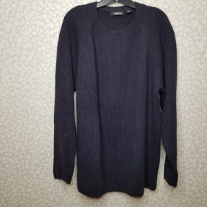 Claiborne Chunky Knit Ribbed Crew Neck Sweater